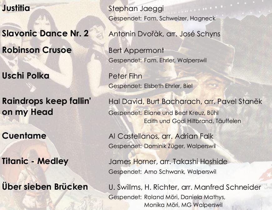 MGW Frühlings-Konzert 2016 Programm