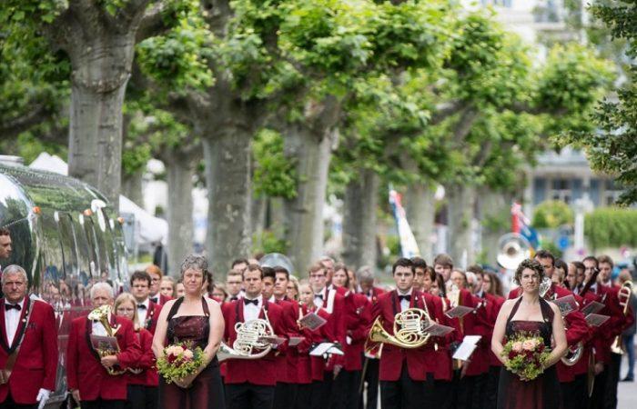 Die MGW während der Marschmusik