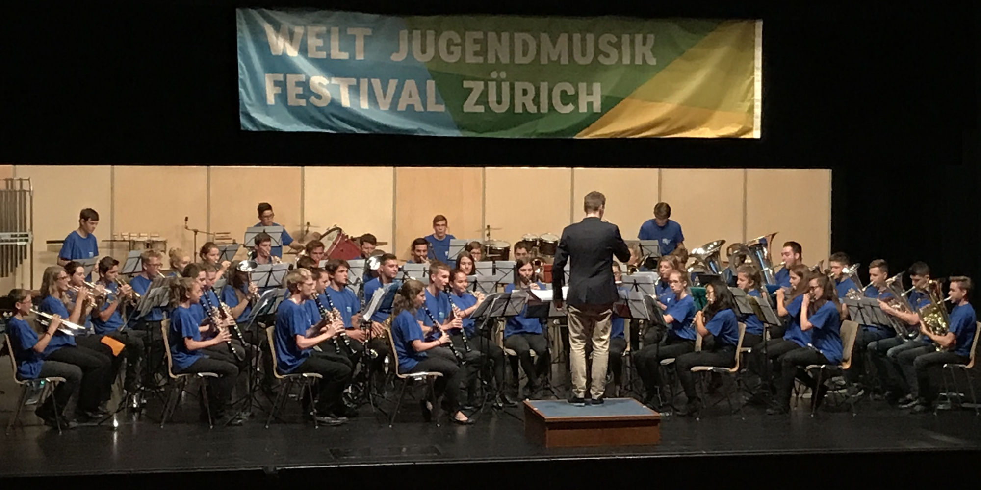 Jugendblasorchester Seeland am Weltjugendmusikfestival