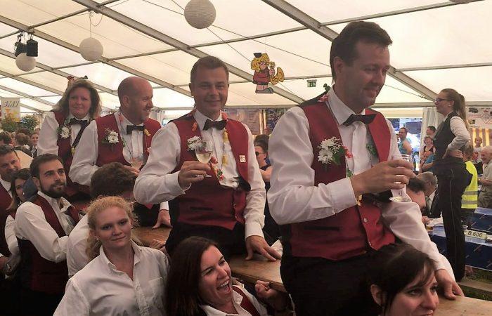 Die MGW am Feiern (Oberwil 2017)
