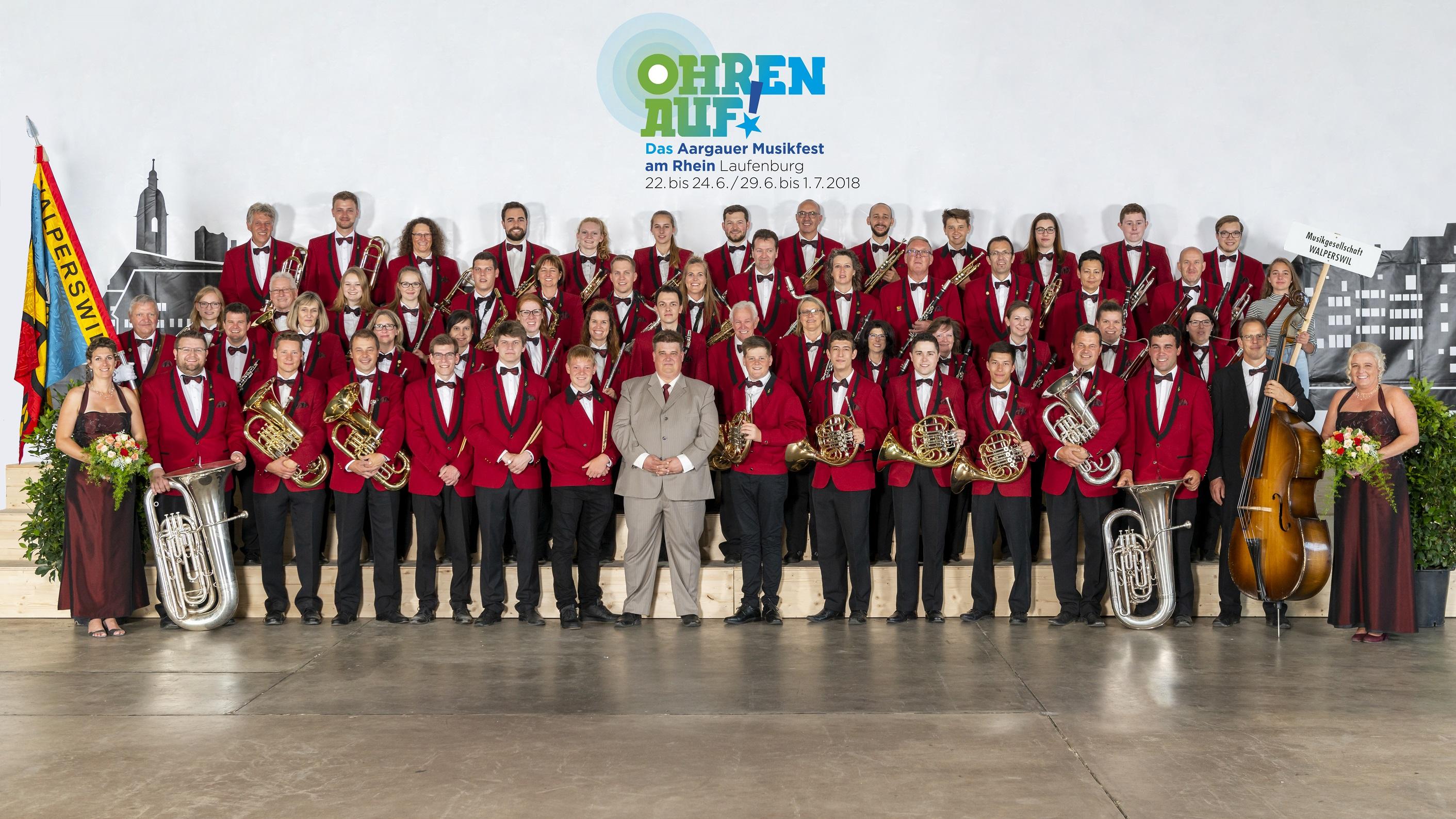 Die MGW am Musikfest in in Laufenburg 2018