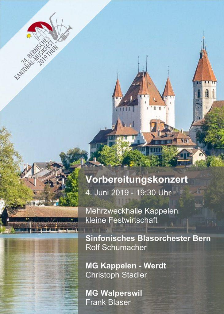 Im Bild zu sehen ist das Schloss Thun und die Details zum Konzert
