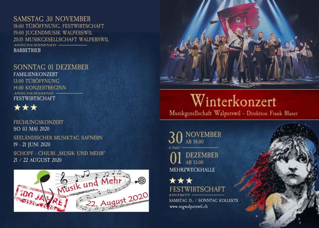 Flyer Winterkonzert 2019