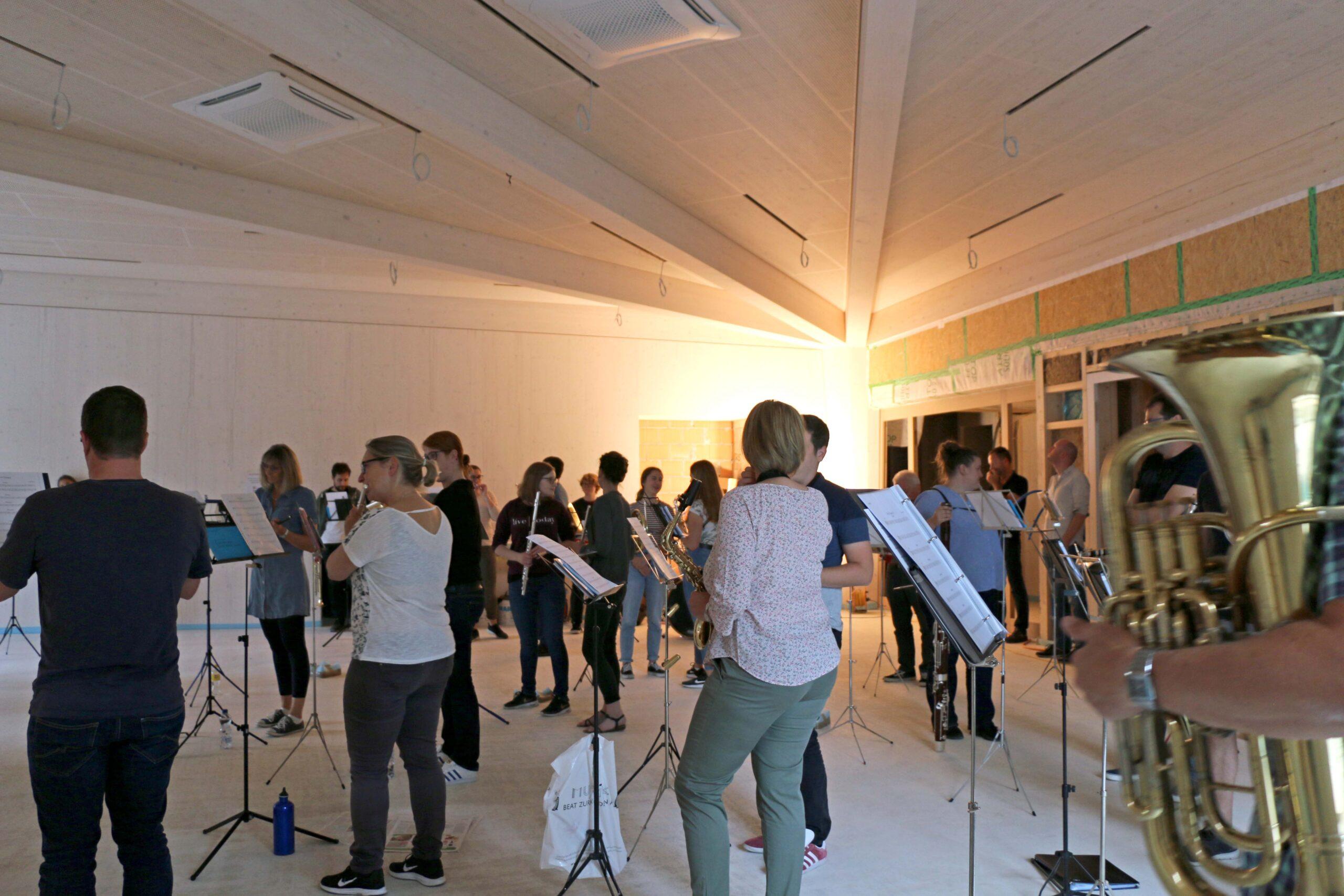 Akustikprobe neues Probelokal, Juni 2020