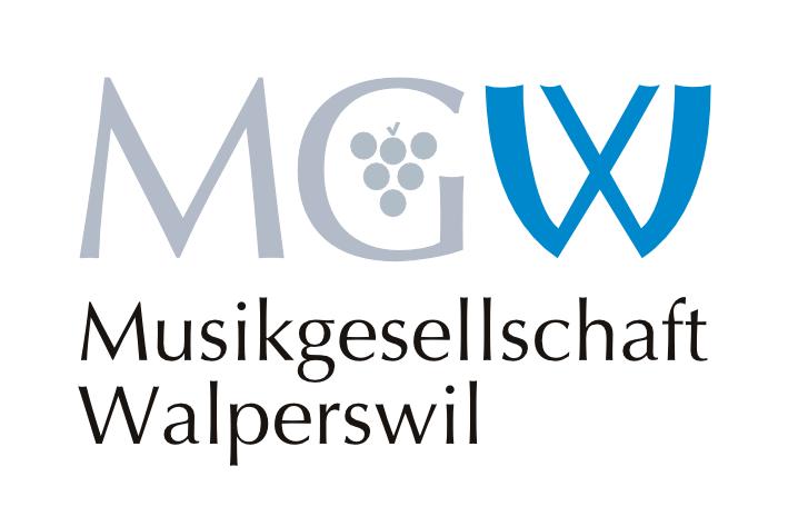 """MGW Logo mit Schriftzug """"Musikgesellschaft Walperswil"""""""