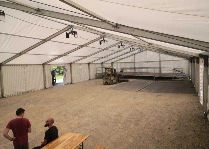 Das Zelt steht. Schön, oder?